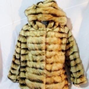NEUSTADTER FURS NEW YORK Fur Coat Jacket STRIPED